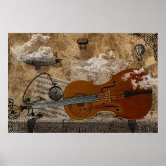 De Reeks van Steampunk van de cello Poster