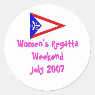 De Regatta WeekendJuly 2007 van vrouwen Ronde Sticker