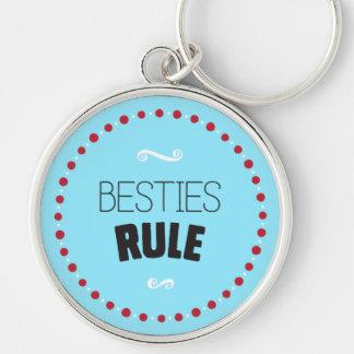 De Regel van Besties - Blauw Sleutelhanger