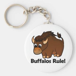 De Regel van buffels! Basic Ronde Button Sleutelhanger