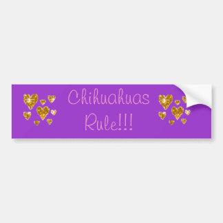 De Regel van Chihuahuas!!! Bumpersticker