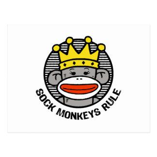 De Regel van de Apen van de sok Briefkaart