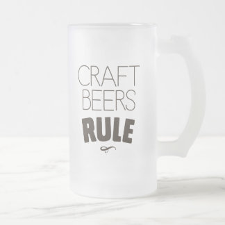 De Regel van de Bieren van de ambacht Matglas Bierpul