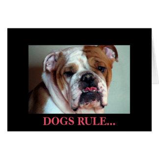 De regel van honden kaart