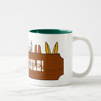 De Regel van muilezels! Tweekleurige Koffiemok