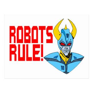 De Regel van robots Briefkaart