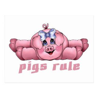 De Regel van varkens Briefkaart