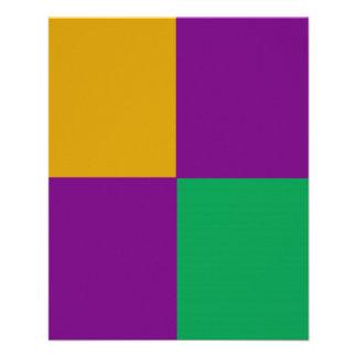 De REGELBARE Groene & Paarse Vlieger van Mardi Gra Persoonlijke Folder