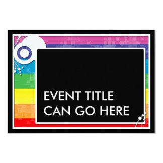 de regeling van het regenboogblok 8,9x12,7 uitnodiging kaart