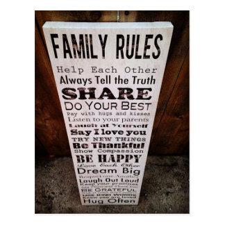 De Regels van de familie Briefkaart
