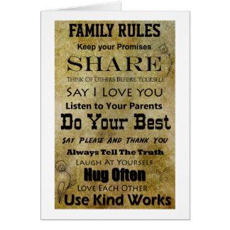 De Regels van de familie Wenskaart