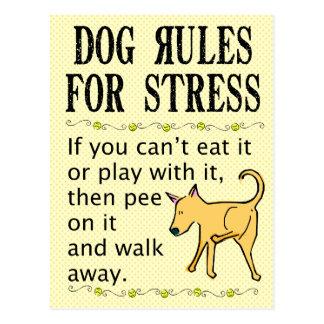 De Regels van de hond voor Spanning Briefkaart