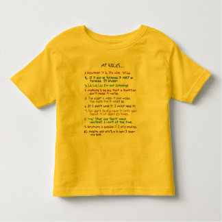 De Regels van de peuter Kinder Shirts