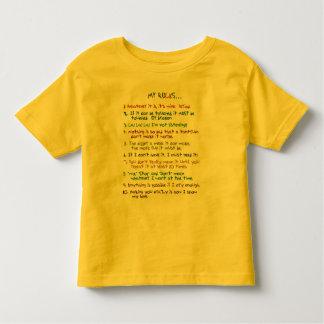 De Regels van de peuter Tshirts