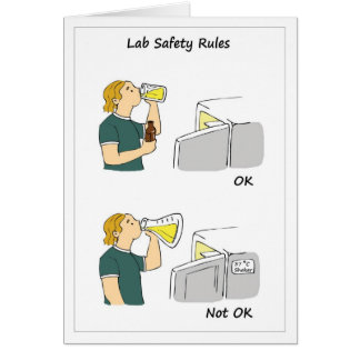 De Regels van de Veiligheid van het laboratorium Briefkaarten 0