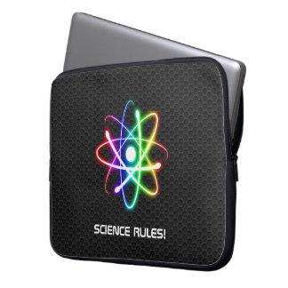 De Regels van de wetenschap! - Kleurrijk Gloeiend Laptop Sleeves