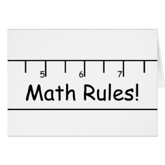 De Regels van de wiskunde! Briefkaarten 0
