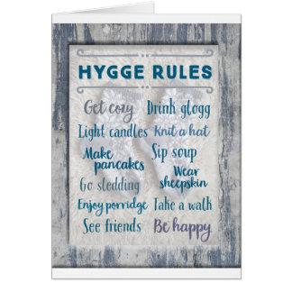 De Regels van Hygge Briefkaarten 0