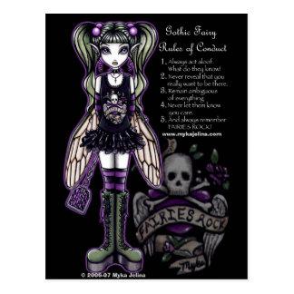 De Regels van Sadies van de Gotische Schedel Faery Briefkaart