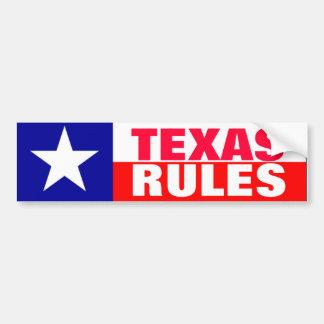 De Regels van Texas Bumpersticker