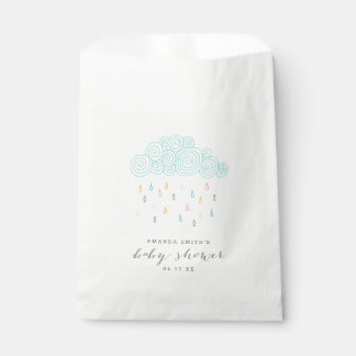 De regen betrekt Baby shower Bedankzakje
