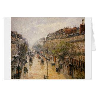 De Regen Camille Pissarro van de Lente van Kaart