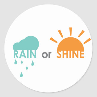 De regen of glanst ronde sticker