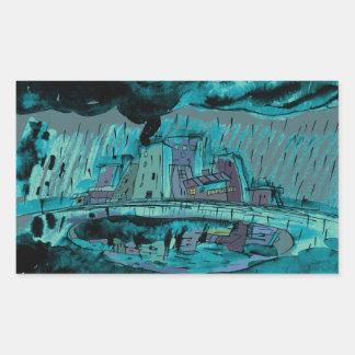 De Regen van de herfst Rechthoekige Sticker