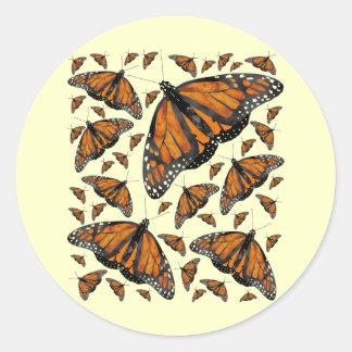 De Regen van de monarch Ronde Sticker