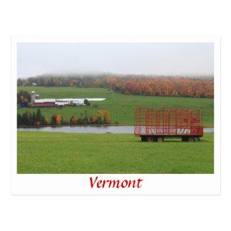 De Regen van Oktober van het Boerderij van Vermont Briefkaart
