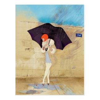De regenachtige Bloem van de Dag Briefkaart