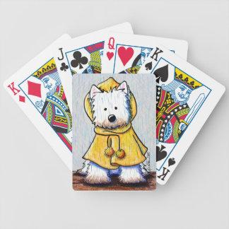 De regenachtige Speelkaarten van Westie van de Dag Poker Kaarten
