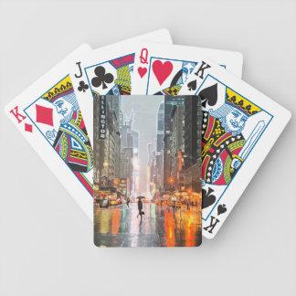 De regenachtige Stad van New York Bicycle Speelkaarten