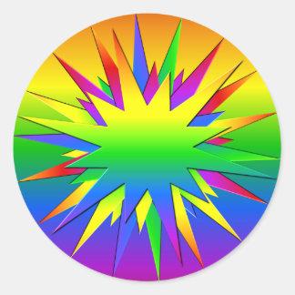 De regenboog barstte stickers
