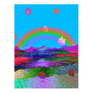 De regenboog brengt diversiteit briefkaart