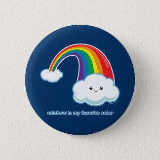 De regenboog is Mijn Favoriete Kleur Ronde Button 5,7 Cm