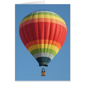 De regenboog kleurde Hete luchtballon Wenskaart