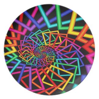 De regenboog ontwerpt het Bord van de Melamine