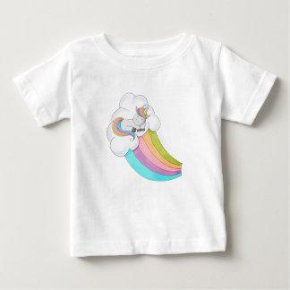 De Regenboog van de eenhoorn Baby T Shirts