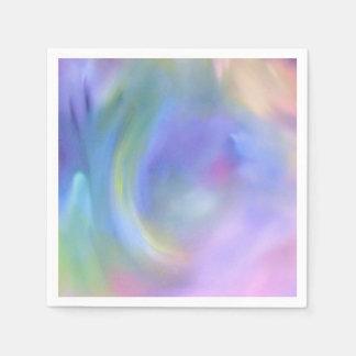 De Regenboog van de Pastelkleur van de waterverf - Wegwerp Servetten