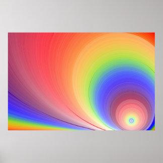 De Regenboog van de zonneschijn Poster