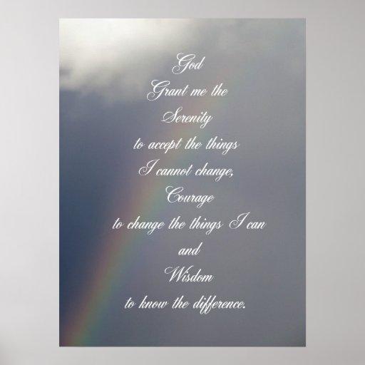 De Regenboog van het Gebed van de sereniteit Poster