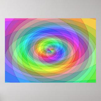 De regenboog van het net poster