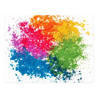 De Regenboog van het Poeder van de kleur Briefkaart