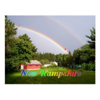 De regenboog van Newhampshire Briefkaart