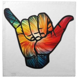 De Regenboog van Shaka Katoenen Servet