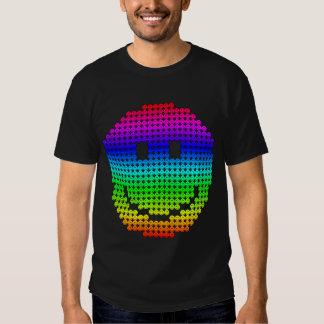 De Regenboog van Smiley van Borg T Shirts