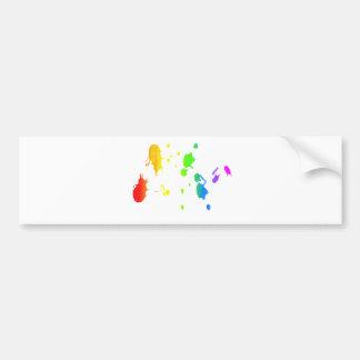 De regenboog verf-ploetert bumpersticker