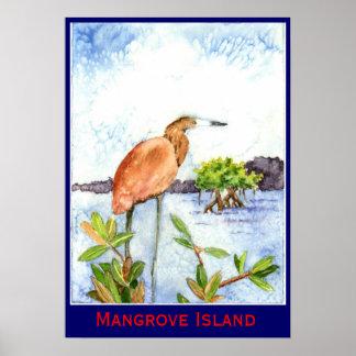 De Reiger van het Eiland van de mangrove Poster