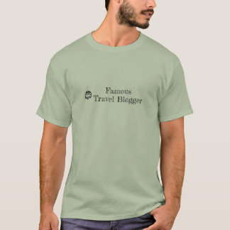 De reis blogger t-shirt van het mannen
